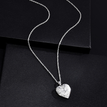 Photo Inside Fashion Women Hollow Sliver Heart Pendant Long Chain Necklace Sweater Necklace Fashion Necklaces for Women 2020