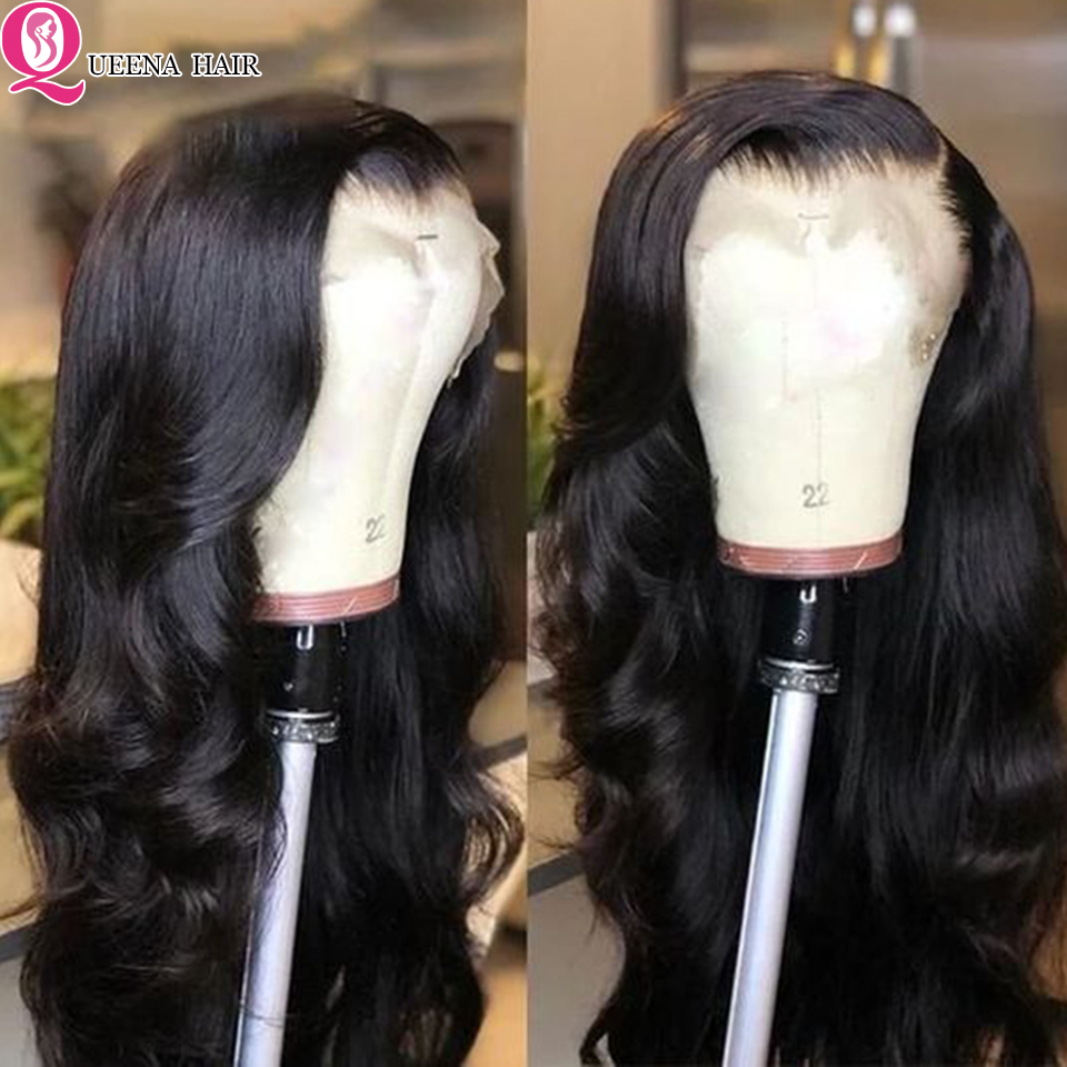 Body Wave Lace Front Human Hair Wigs 13*4 Transparent Lace Frontal Wig For Women 150% Remy Brazilian Front Lace Wig Pre Plucked