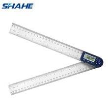 Shahe 300mm זווית שליט דיגיטלי אלקטרונים Goniometer נירוסטה זווית Finder מד זוית Inclinometer זווית מד