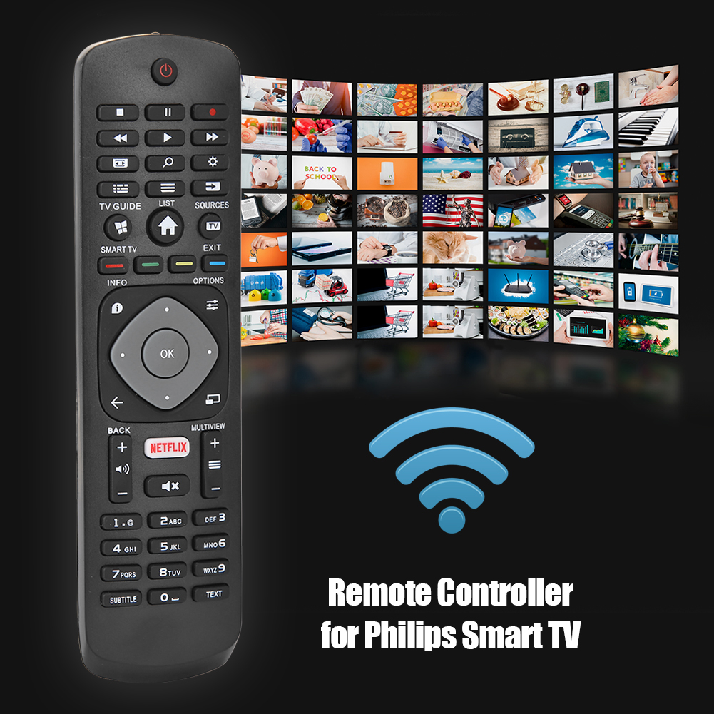Replacement Remote Control for PHILIPS TV with NETFLIX APP HOF16H303GPD24 398GR08B Smart Remote Control image
