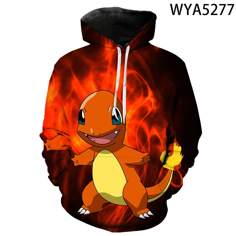 3D Printed Hoodies Men Women Children Games Pokemon Sweatshirts Clothes Boy Girl Kids Pullover Long Sleeve Streetwear Tops 2