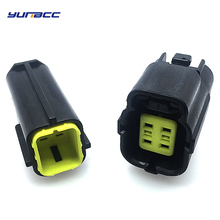 1sets 4Pin Female Male Auto Electrical Plug Waterproof Denso Connector 174257-2 174259-2 For MAZDA 626 98-00 Oxygen Sensor