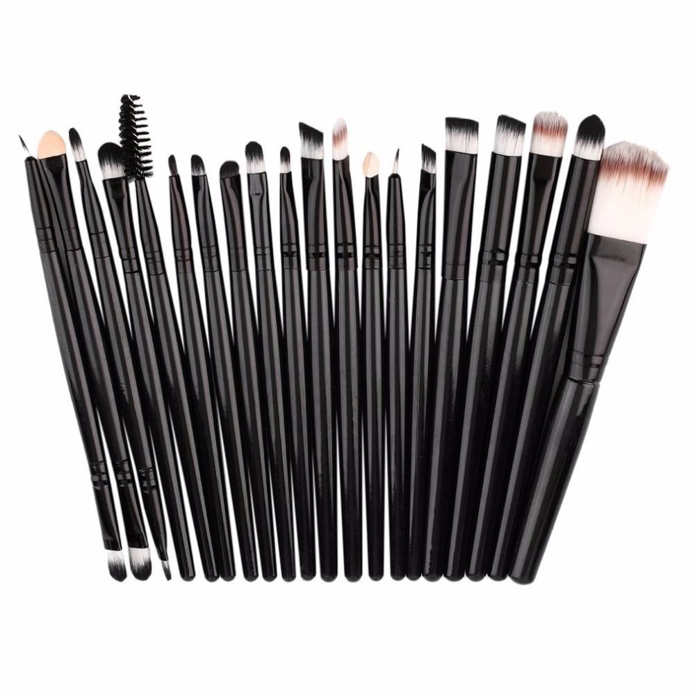 20pcs/set Women Makeup Brushes Pro Blending Eyeshadow Powder Foundation Eyes Eyebrow Lip Eyeliner Make Up Comb Cosmetic Tool