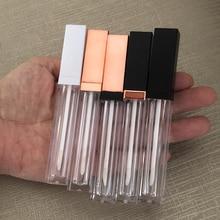 50pcs 5ml Oro Rosa/Nero/bianco Lip gloss Tubi FAI DA TE Vuoto Contenitore Cosmetico Riutilizzabile Bottiglie di Liquido rossetto Bottiglia di Stoccaggio