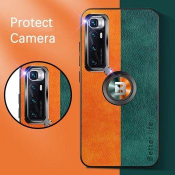 Cassa del telefono per Xiaomi Mi 10 Ultra Copertura Della Cassa Magnetica Anello Della Macchina Fotografica di Protezione In Pelle di Silicone Telaio di Copertura per Xiaomi Mi 10 Ultra