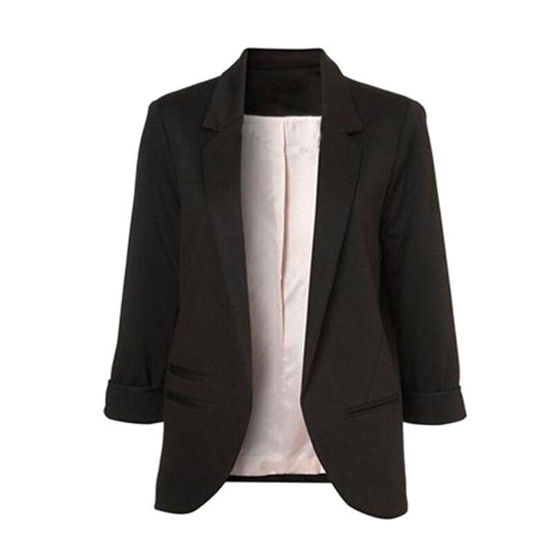 Casual Slim Suit Blazer Coat Jacket Outwear Women Candy Color No Buckle FDC99