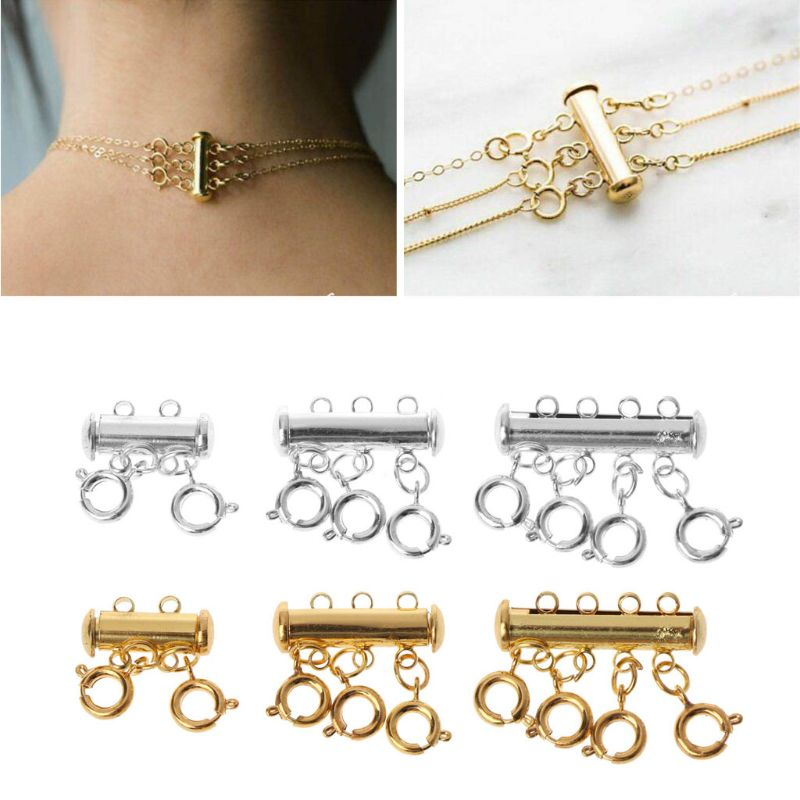 1pc Multi Strand Clasps Lobster Clasp Necklace Magnetic Tube Lock Jewelry Connectors Making Jewelry Accessories
