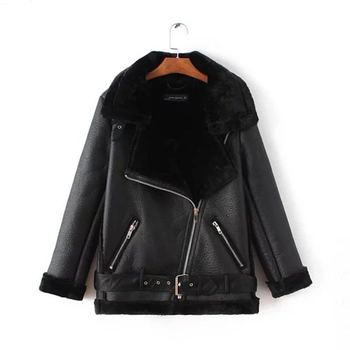 2020 Women hot style autumn and winter new European American leather velvet stitching loose fur coat female N1