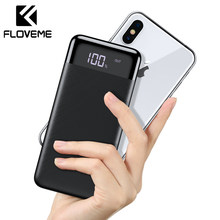 FLOVEME Tragbare Power Bank 10000mAh Externe Batterie Pack Led Display Power Für Xiao mi mi Tragbare Ladegerät Poverbank(China)