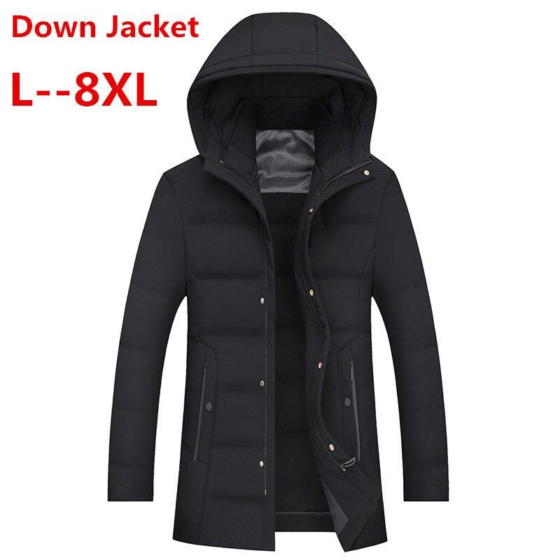 10XL 8XL 6XL New Casual Brand White Duck Down Jacket Men Winter Warm Coat Men's Ultralight Duck Down Jacket Male Windproof Parka