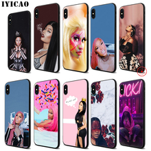IYICAO Nicki Minaj Soft Black Silicone Case for iPhone 11 Pro Xr Xs Max X or 10 8 7 6 6S Plus 5 5S SE