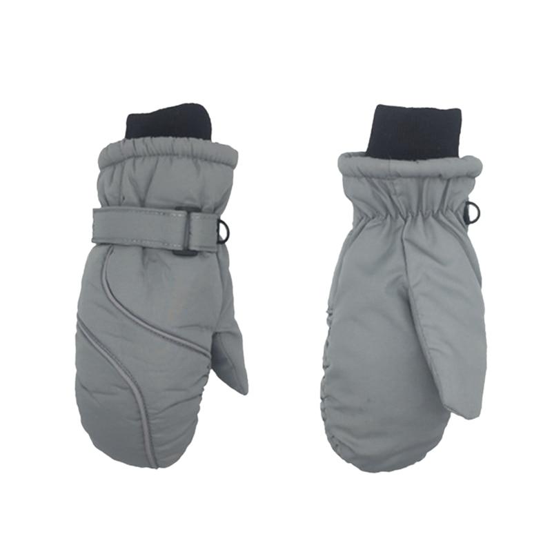 Популярные Нескользящие Детские лыжные перчатки, ветрозащитные водонепроницаемые детские зимние варежки, утепленные варежки для девочек и мальчиков, детские варежки, теплые перчатки для детей - Цвет: 5