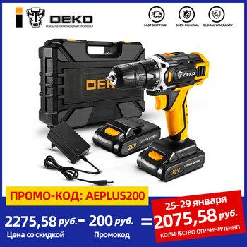 DEKO New Sharker 20V wiertarka akumulatorowa wkrętak Mini bezprzewodowy sterownik mocy DC bateria litowo-jonowa 18 + 1 ustawienia tanie i dobre opinie Wiertarko NONE CN (pochodzenie) Domu DIY 50-60HZ 42N m Woodworking 1 2kg 20 v 3 8 (0 8-10mm) 1350 rpm 400 w Light Weight LED Worklight Always Ready Variable Speed
