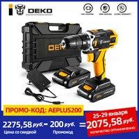DEKO-afilador destornillador inalámbrico de 20V, Mini controlador de potencia inalámbrico, batería de iones de litio CC 18 + 1 ajustes