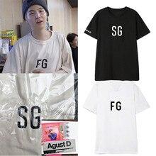Kpop Bangtan Boys T-shirts Suga Tee Shirt Femme Short Sleeve Summer Tops Female Harajuku Streetwear