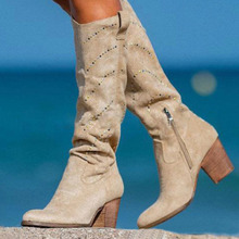 Embroidery Shoes Ankle-Boots Wedge Western High-Heel Cowboy Female Fashion Woman Ladies
