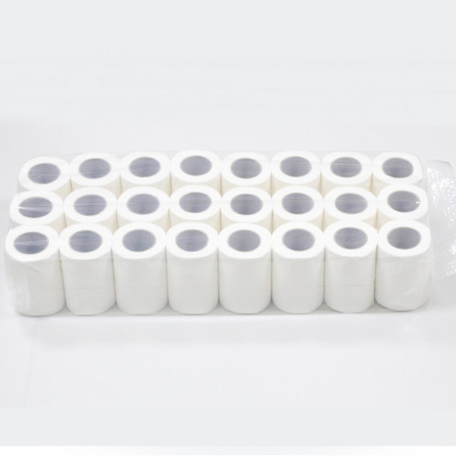 24 Pieces / Bag 4ply White Hollow Toilet Paper Replacement Roll Clean Paper Prevent Flu Cleaning Toilet Paper Sanitary Novelty