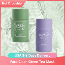 Clean Face Mask Beauty Skin Green Tea Clean Face Mask Stick Cleans Pores Dirt Moisturizing Hydrating Whitening Care Face Tools