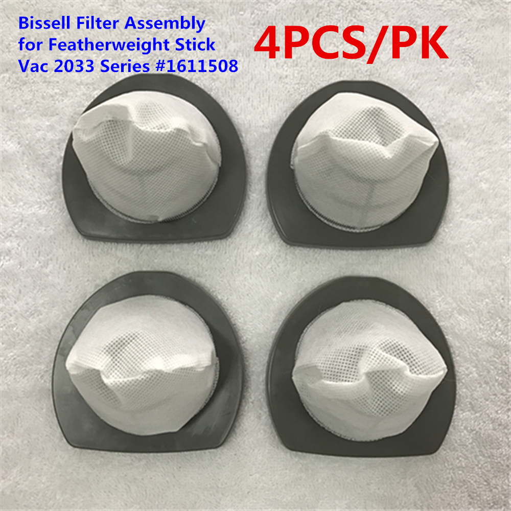 Bissell Filter Assembly For Featherweight Stick Vac 2033 Series #1611508-4PCS