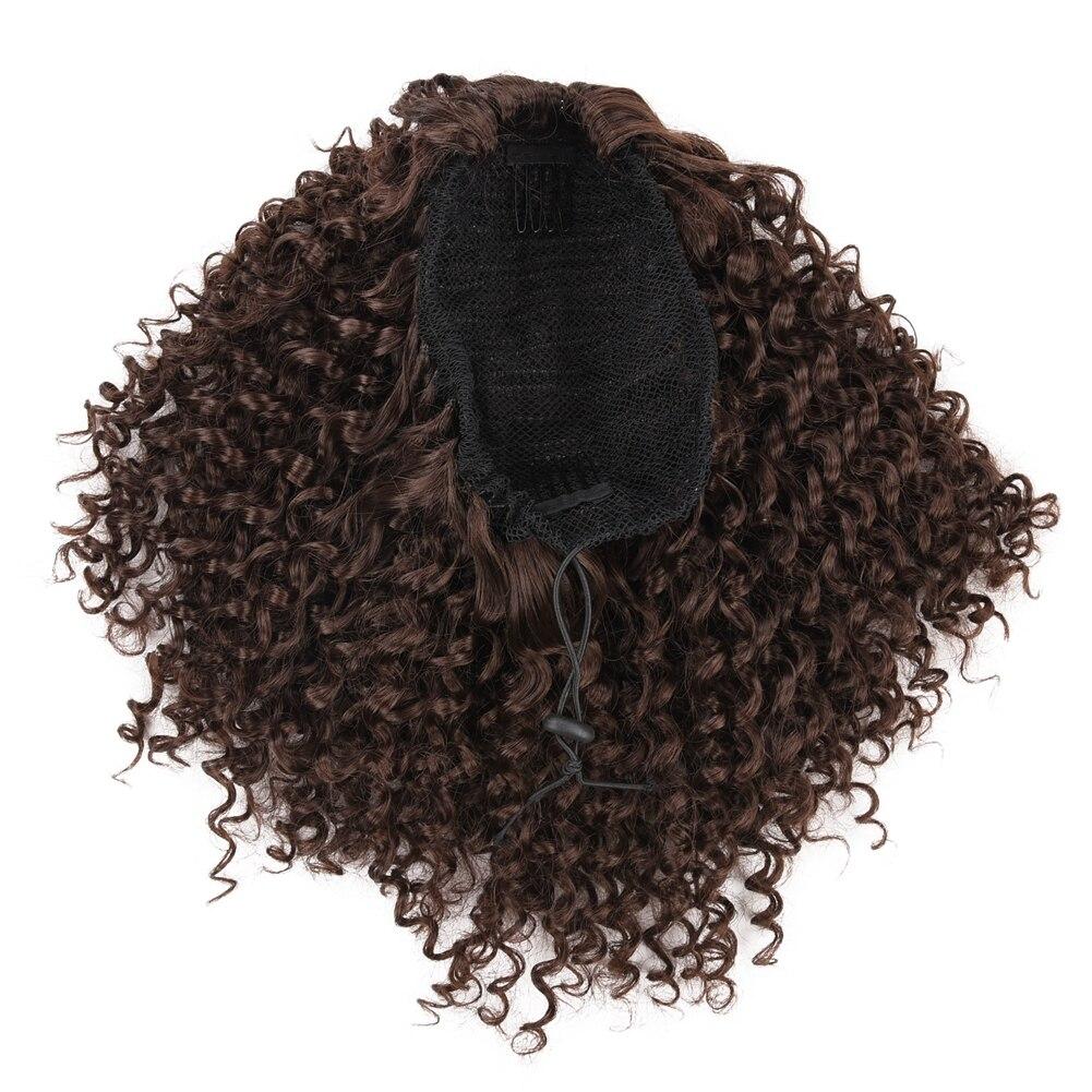 cavalo cabelo bun afro puff chignon hairpiece
