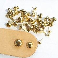 100Pc Mushroom Luggage Parts Rivet Bag Accessories Manual Metal Bag Bottom Nail Foot Nail Diy Parts Alloy Two-legged bucket nail