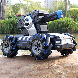 2020 NEW RC tank 2.4G 4WD can fire water bombs drift horizontal movement rotating rc boy toys for kids children