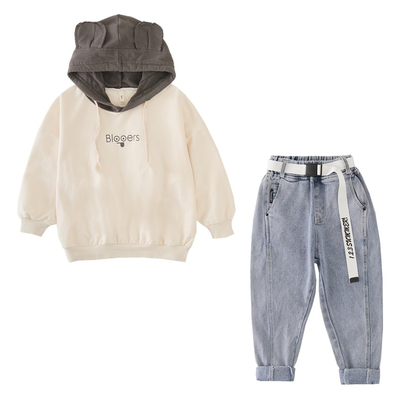 Fashion Girls Fall Outfits Hooded Sweatshirt & Jeans 2pcs Sets Child Boutique Clothing  10 12 Year Teen Clothes set Spring 2020 3