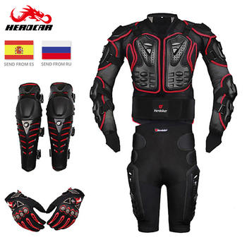 New Motorcycle Jacket Motocross Racing Motorcycle Body Armor Moto Protective Gear+Shorts Pants+Protection Knee Pads+Gloves Guard wosawe motorcycle jacket motocross body armor chest back moto protective gear shorts pants knee protector gloves guard knee pads