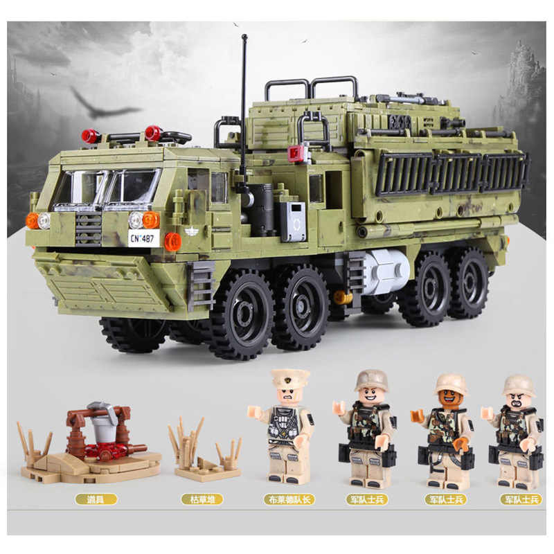 1377Pcs XINGBAO Building Blocks Toys легоe military 06014 Cross The Battlefield Series Bricks Truck Model Gift for Children 4PX 3