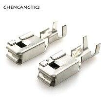 20 adet oto araba ekleri tel terminali G211 sıkma gevşek pimler terminalleri sigorta kutusu Metal 6.3 MM pim otomotiv konnektör