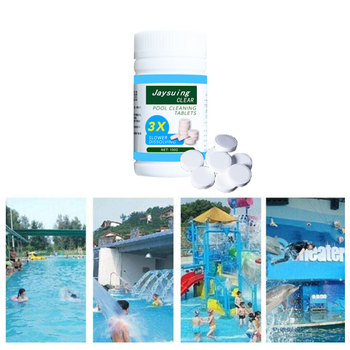 100pcs Swimming Pool Cleaning Tablets Disinfection Pills Chlorine tablets Instant Effervescent Pipes Cleaning Water Disinfection 200g swimming pool instant disinfection tablets chlorine dioxide effervescent tablets disinfectant chlorine tablets chlorine