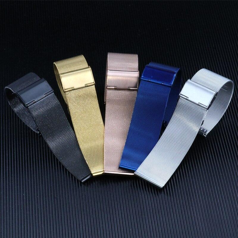 8 10 12 14 16 18 20 22 24 MM Edelstahl Uhr Band Universal Milanese Armband Ersatz Armband Metall uhr Strap