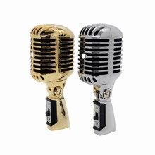 Micrófono profesional 55SH estudio de grabación de Karaoke dinámico con cable Retro Capsule Mic Vocal para Vintage Home KTV