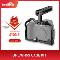 SmallRig GH5S Camera GH5 Dual Aluminum Cage kit For Panasonic Lumix GH5 / GH5S Form Fitting Cage with Top Handle Grip 2050