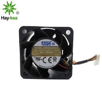 For AVC DBTD0428B2G DC 12V 1.50A 40x40x28mm 4-wire industrial server inverter cooling fans emacro for sf6023lhh12 57p server projector fan dc 12v 250ma 60x60x23mm 4 wire
