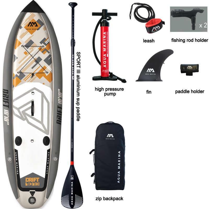 Aqua marina 330*97*15cm deriva inflável sup board levante-se a placa da pá, pesca sup placa de surf com incubadora a01010