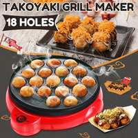 Professional 18 Hole Octopus Ball Maker Takoyaki baking Machine Mini Electric Stove Cooking Plate Grill Pan 650W