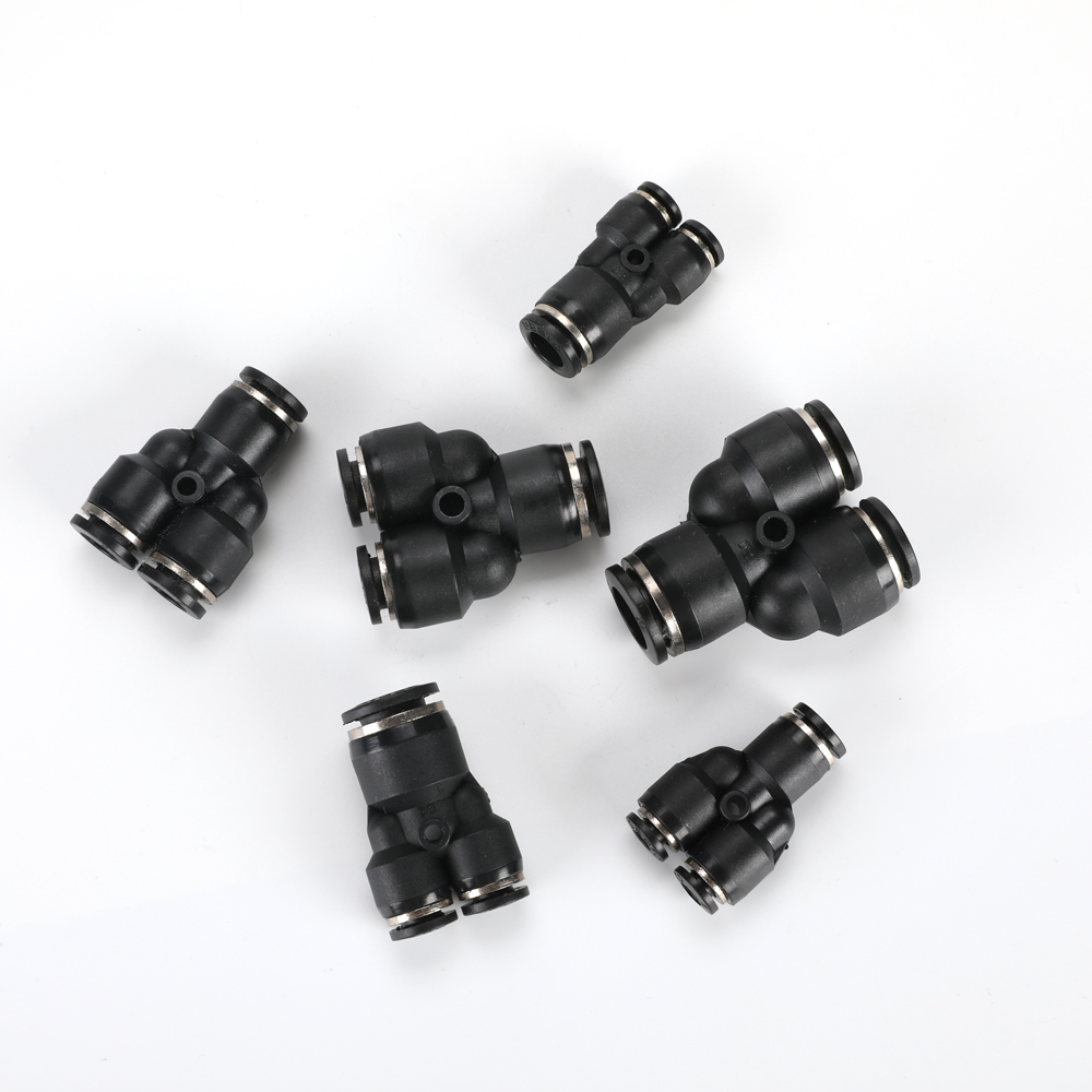 Plastic L-type Air Push In Fitting Quick Pneumatic Elbow Connector Male Thread