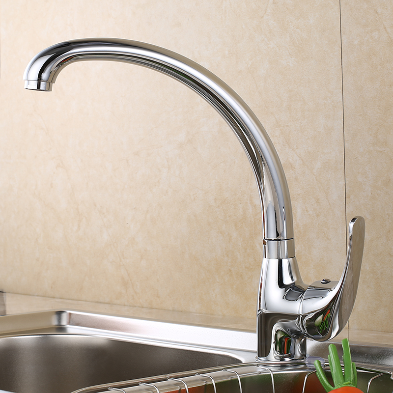 SHAI Kitchen Faucet 360 Degree Swivel Solid Zinc Alloy Kitchen Mixer Cold and Hot Kitchen Tap Single Hole Water Tap 1