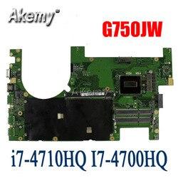 2D Laptop płyta główna For Asus G750JM G750JW G750JZ G750JZA G750JH G750JS G750JX G750J płyty głównej płyta główna i7-4710HQ I7-4700HQ