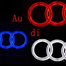 4d dianteiro traseiro automóvel conduziu a luz do emblema apto para q3 q5 q7 a1 a3 tt a5 a7 a4l a6l a8 logotipo do emblema do carro daylighting lâmpada marcador drl