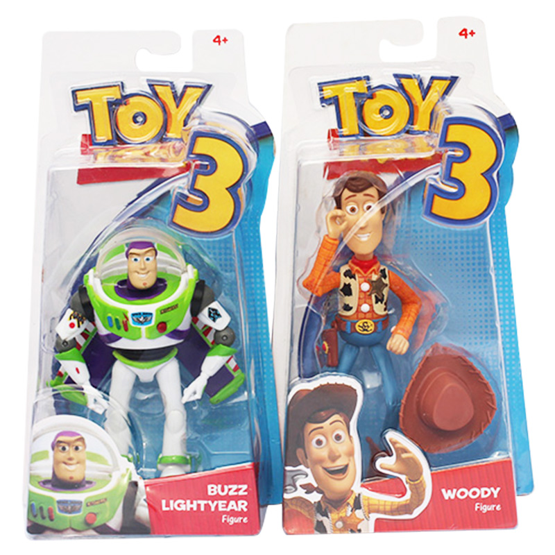Action-Figure-Toys Toy-Story Sheriff Buzz Lightyear Selectable 3-Woody PVC 2styles