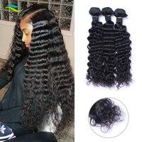 Neobeauty Deep Wave Bundles Brazilian Hair Bundles Human Hair Extensions 4 Bundles Deals virgin Hair Weave Bundles Weft
