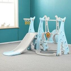 طفل الشريحة سوينغ مزيج يتأرجح داخلي الأسرة رياض الأطفال ملعب طفل صغير متعدد الوظائف اللعب الحارس