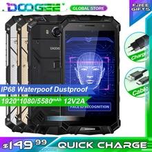 شحن سريع DOOGEE S60 LITE جوّال المهامّ الوعرة IP68 مقاوم للغبار هاتف محمول لاسلكي 5580mAh 4GB 32GB NFC هاتف ذكي