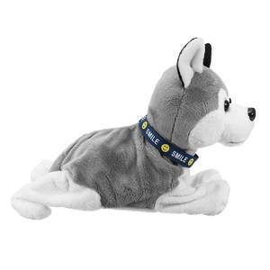 Image 5 - Электронная Интерактивная игрушка со звуковым управлением для собак, робот, щенок, лай, подставка, 8 ходов, плюшевые игрушки для детей, подарки