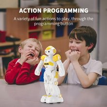 Infrared Remote Control Air Gesture Lighting And Programming Singing And Dancing Intelligent Robot Electric Toys For Children