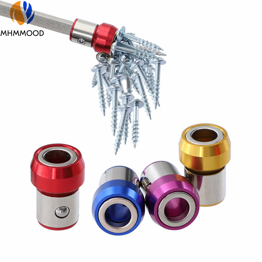 6.35mm Screwdriver Bit Magnetic Ring Metal Anti-Corrosion Strong Magnetizer Screws Drill Bit Magnetic Ring Magnet Powerful