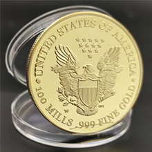 2020 2021 American Statue of Liberty Eagle Coin Commemorative Gift Coin Golden Silver Gift Home Decoration