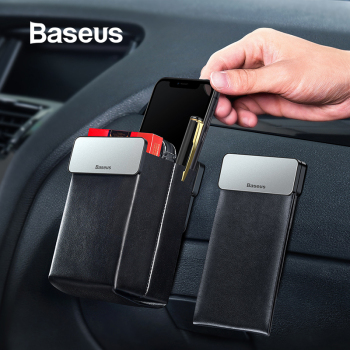Baseus Leather Car Storage Bag Tidy Car Seat Organizer Universal Cell Phone Pouch Magnet Collecting Pocket Auto Accessories 1